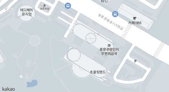 서귀포시 한국관광공사 제주지사 지도상 위치입니다.
