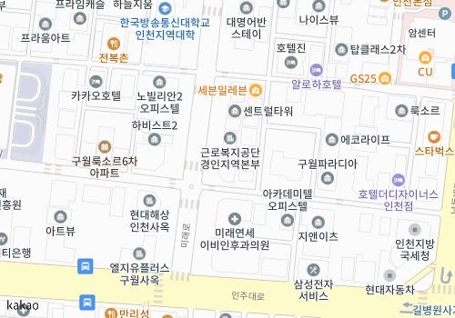 인천시 남동구 구월동 1143-6 일류빌딩 10층 대우건설 중부지사 다음지도