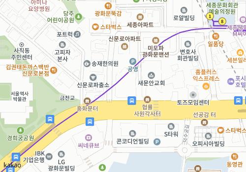 (110-713) 서울시 종로구 신문로 1가 57번지 (주)대우건설 다음지도